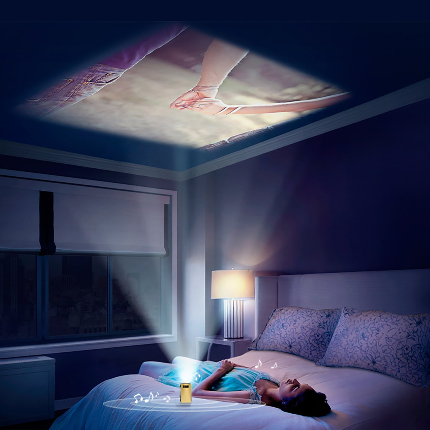 Iphone  Wall Projector