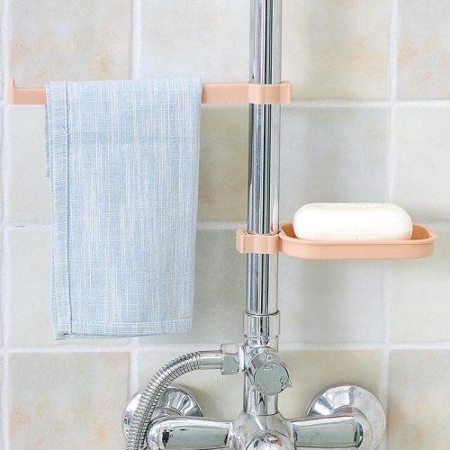 Sink Clip Towel Rack Soap Dish Attachment